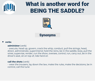 being the saddle, synonym being the saddle, another word for being the saddle, words like being the saddle, thesaurus being the saddle