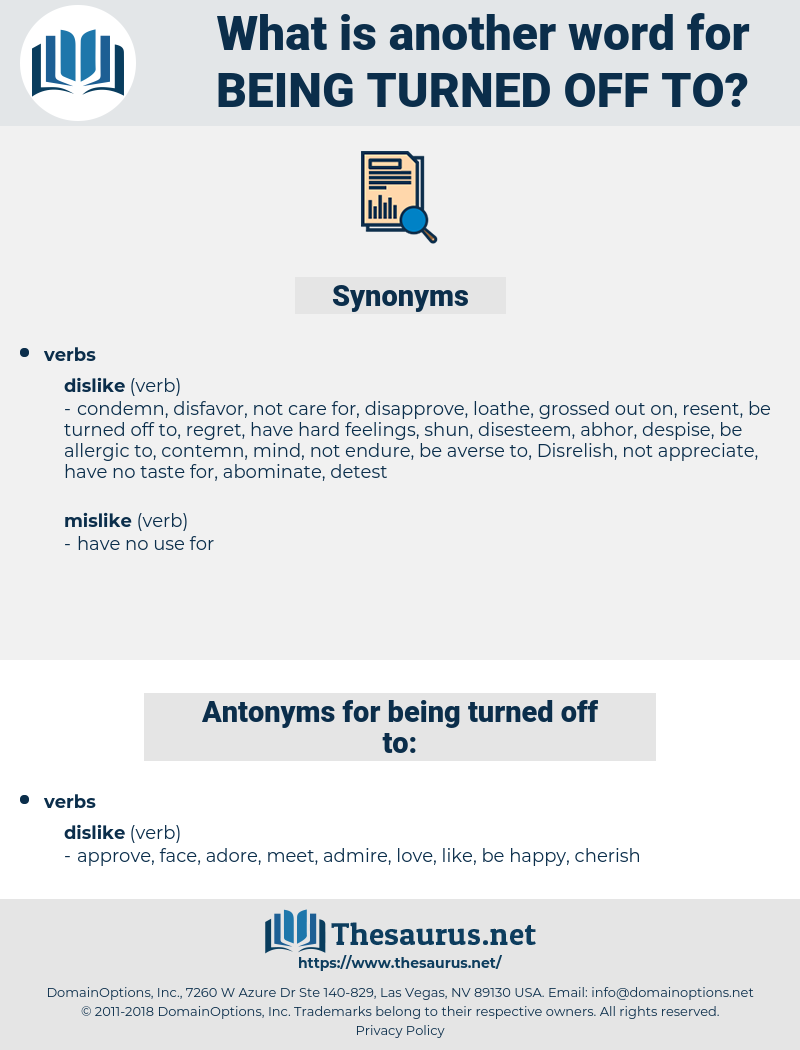 being turned off to, synonym being turned off to, another word for being turned off to, words like being turned off to, thesaurus being turned off to