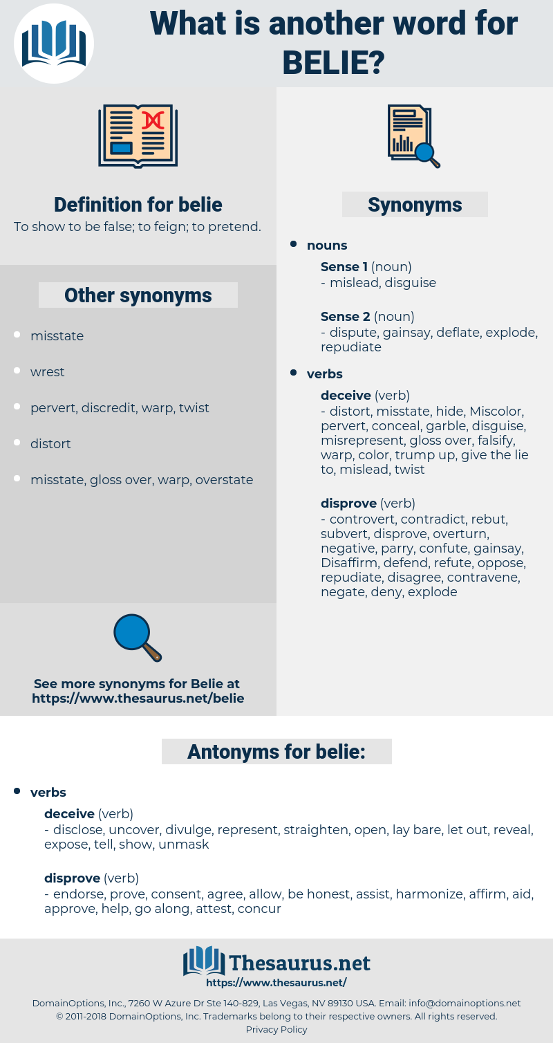 belie, synonym belie, another word for belie, words like belie, thesaurus belie
