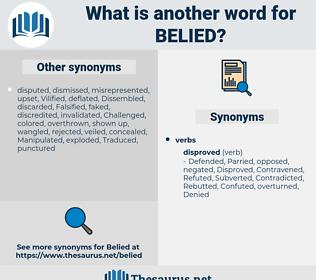 Belied, synonym Belied, another word for Belied, words like Belied, thesaurus Belied