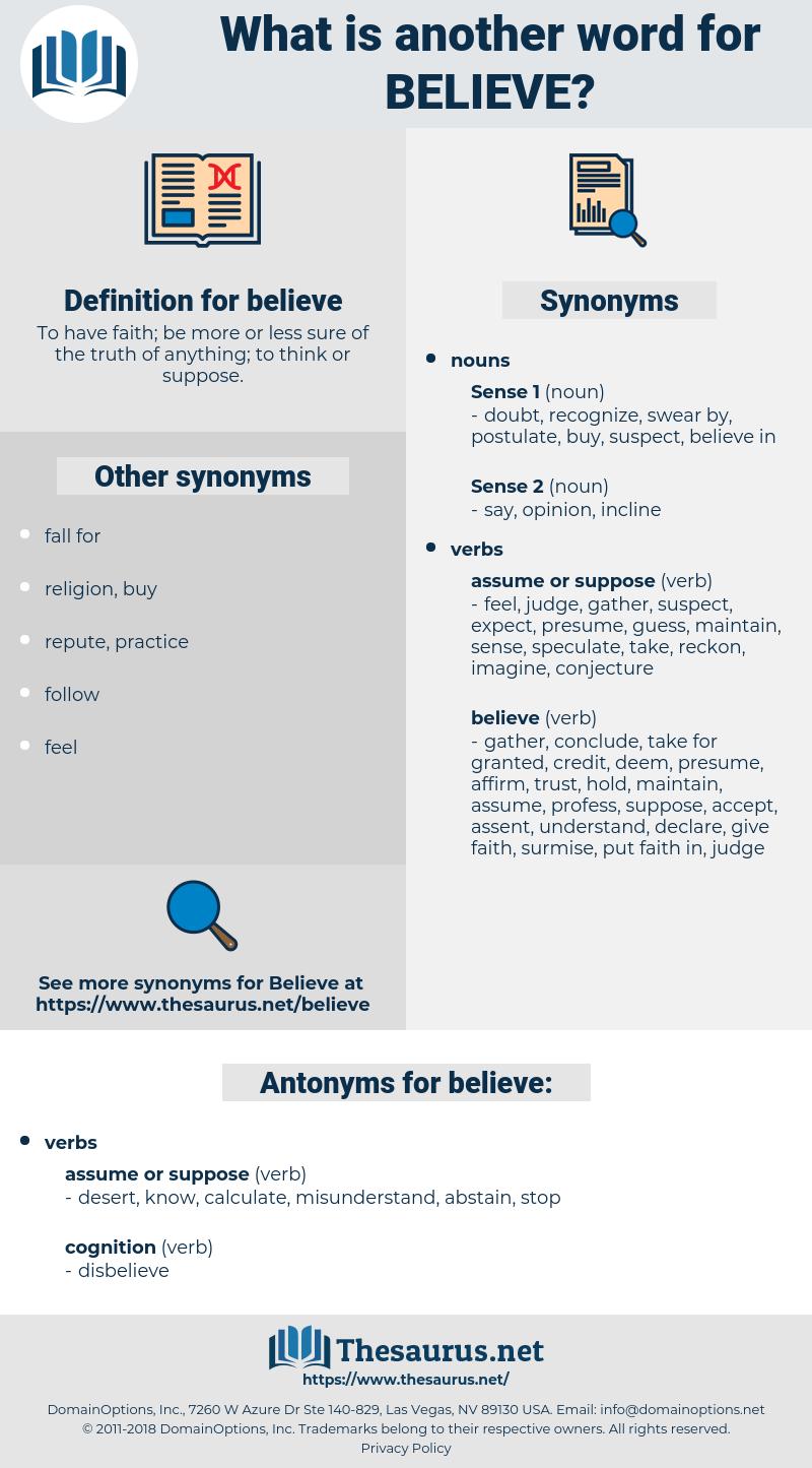 believe, synonym believe, another word for believe, words like believe, thesaurus believe