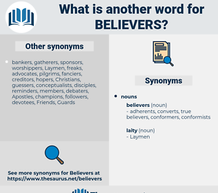 believers, synonym believers, another word for believers, words like believers, thesaurus believers