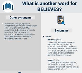 believes, synonym believes, another word for believes, words like believes, thesaurus believes