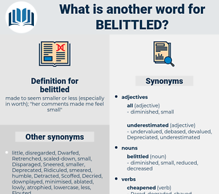 belittled, synonym belittled, another word for belittled, words like belittled, thesaurus belittled