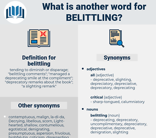 belittling, synonym belittling, another word for belittling, words like belittling, thesaurus belittling