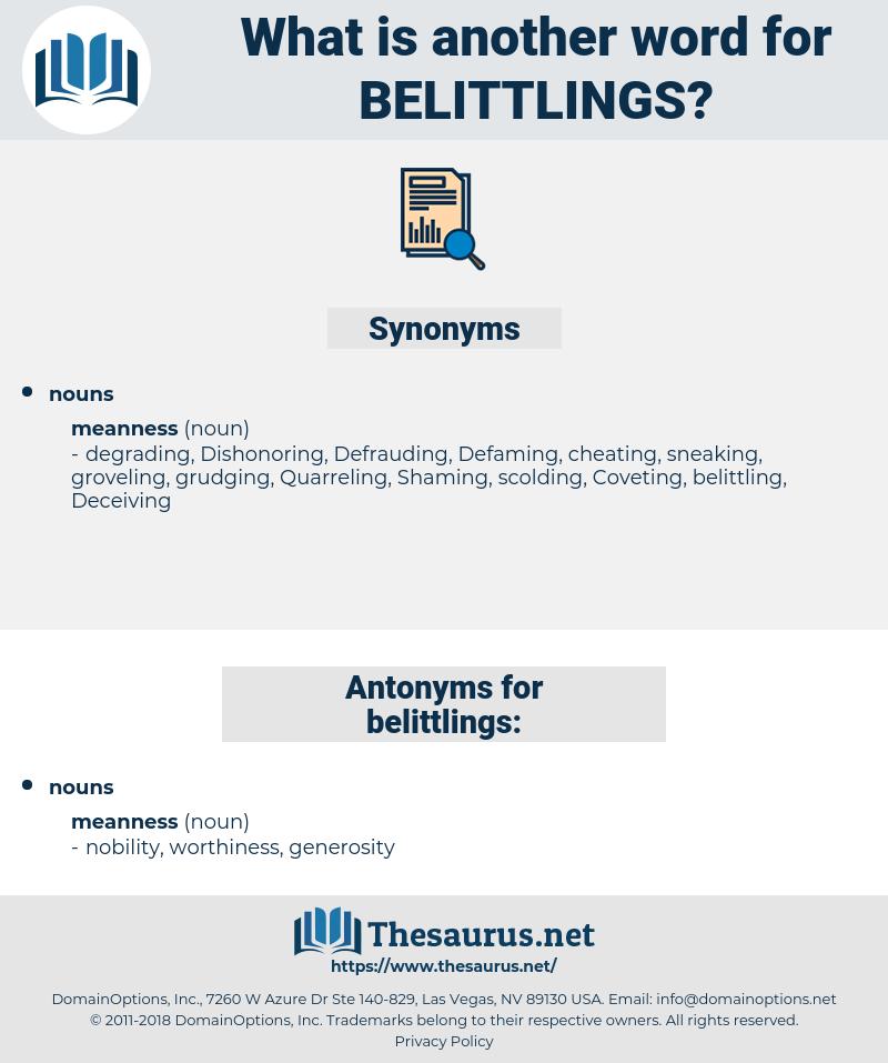 belittlings, synonym belittlings, another word for belittlings, words like belittlings, thesaurus belittlings