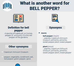 bell pepper, synonym bell pepper, another word for bell pepper, words like bell pepper, thesaurus bell pepper
