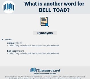 bell toad, synonym bell toad, another word for bell toad, words like bell toad, thesaurus bell toad
