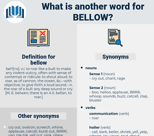 bellow, synonym bellow, another word for bellow, words like bellow, thesaurus bellow