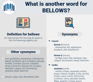 bellows, synonym bellows, another word for bellows, words like bellows, thesaurus bellows