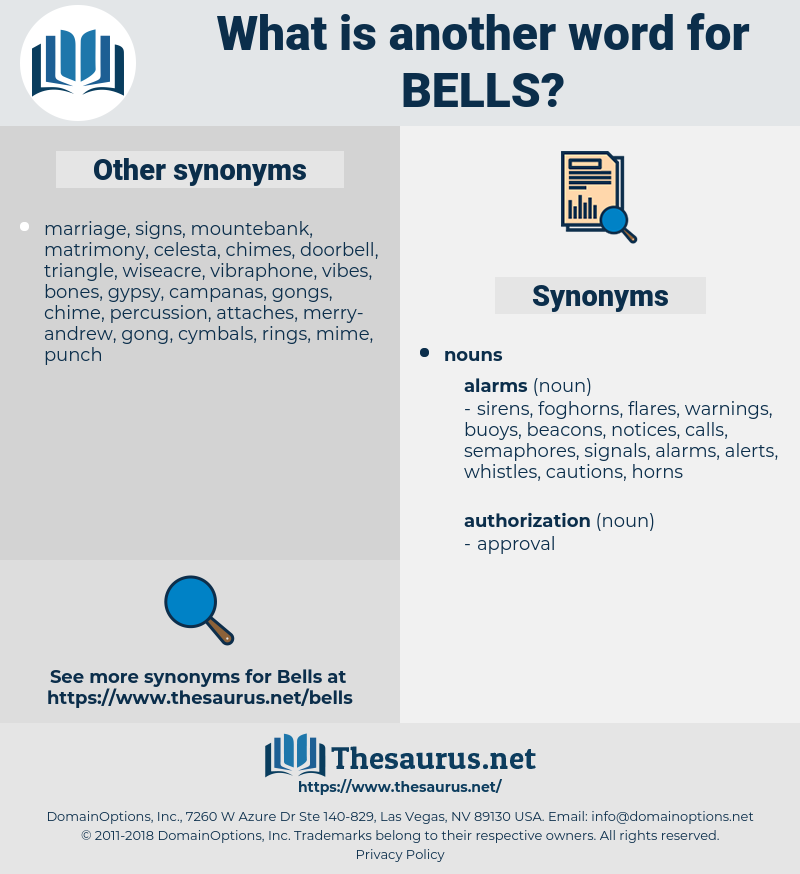 bells, synonym bells, another word for bells, words like bells, thesaurus bells