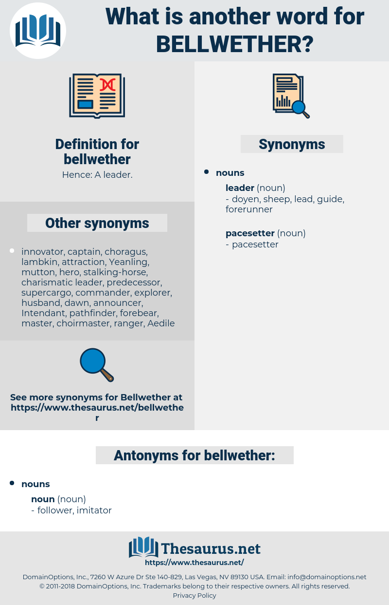 bellwether, synonym bellwether, another word for bellwether, words like bellwether, thesaurus bellwether
