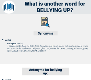 bellying up, synonym bellying up, another word for bellying up, words like bellying up, thesaurus bellying up