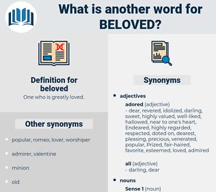 beloved, synonym beloved, another word for beloved, words like beloved, thesaurus beloved