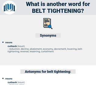 belt-tightening, synonym belt-tightening, another word for belt-tightening, words like belt-tightening, thesaurus belt-tightening