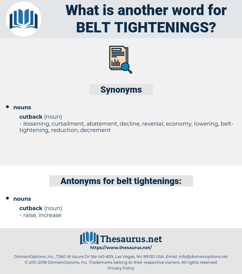 belt-tightenings, synonym belt-tightenings, another word for belt-tightenings, words like belt-tightenings, thesaurus belt-tightenings