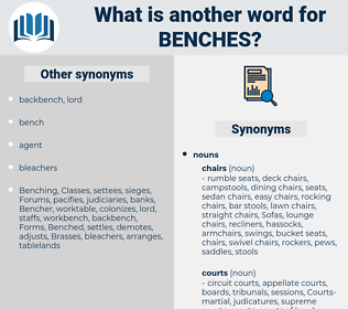 Benches, synonym Benches, another word for Benches, words like Benches, thesaurus Benches