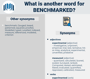benchmarked, synonym benchmarked, another word for benchmarked, words like benchmarked, thesaurus benchmarked