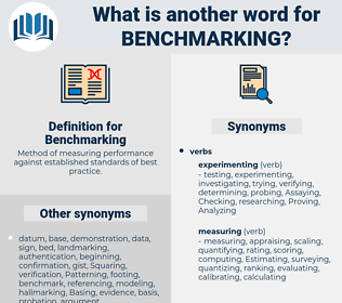 Benchmarking, synonym Benchmarking, another word for Benchmarking, words like Benchmarking, thesaurus Benchmarking