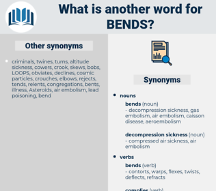 bends, synonym bends, another word for bends, words like bends, thesaurus bends