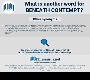beneath contempt, synonym beneath contempt, another word for beneath contempt, words like beneath contempt, thesaurus beneath contempt