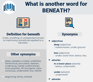 beneath, synonym beneath, another word for beneath, words like beneath, thesaurus beneath