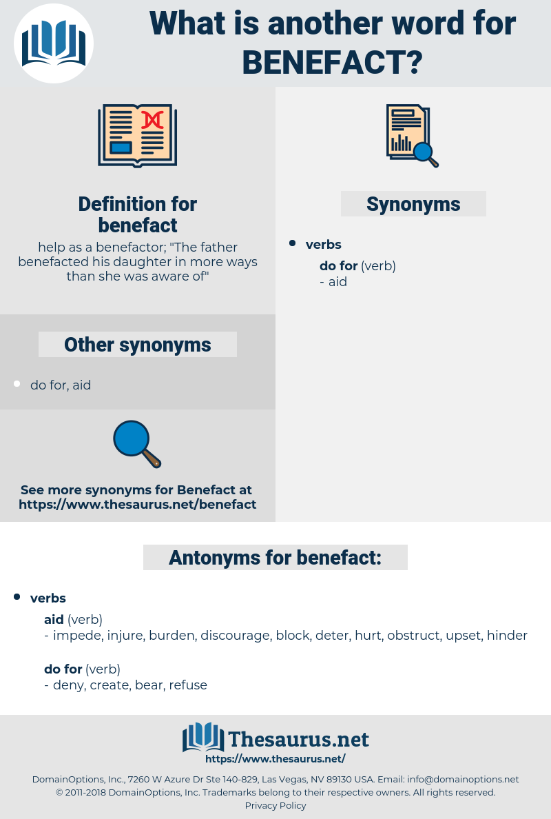 benefact, synonym benefact, another word for benefact, words like benefact, thesaurus benefact