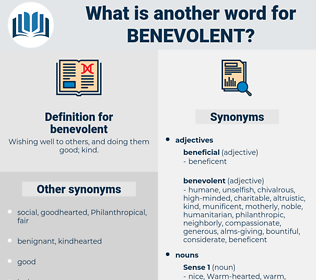 benevolent, synonym benevolent, another word for benevolent, words like benevolent, thesaurus benevolent