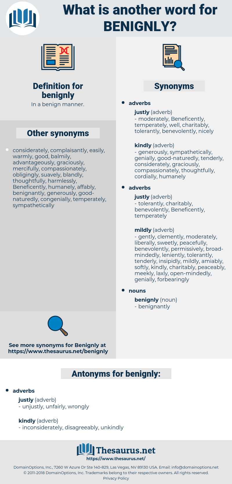 benignly, synonym benignly, another word for benignly, words like benignly, thesaurus benignly