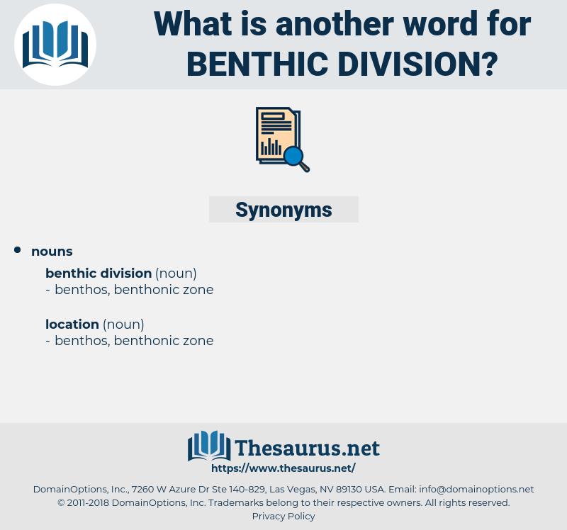 benthic division, synonym benthic division, another word for benthic division, words like benthic division, thesaurus benthic division