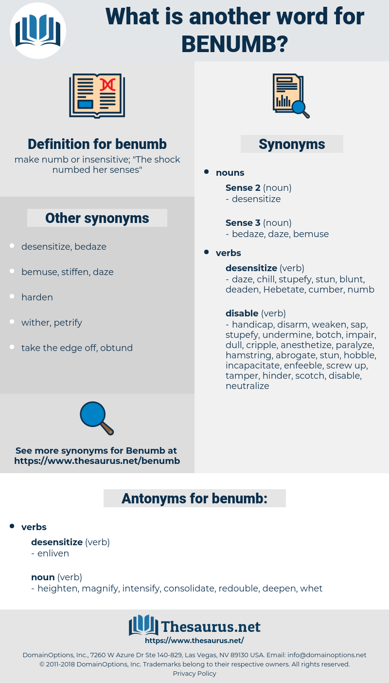 benumb, synonym benumb, another word for benumb, words like benumb, thesaurus benumb