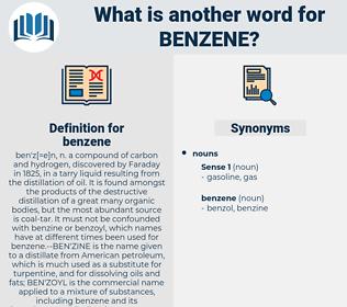 benzene, synonym benzene, another word for benzene, words like benzene, thesaurus benzene
