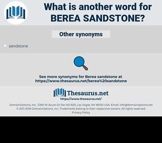 Berea sandstone, synonym Berea sandstone, another word for Berea sandstone, words like Berea sandstone, thesaurus Berea sandstone
