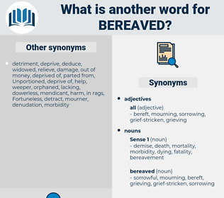 bereaved, synonym bereaved, another word for bereaved, words like bereaved, thesaurus bereaved