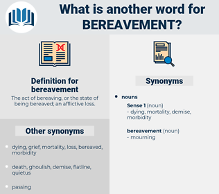 bereavement, synonym bereavement, another word for bereavement, words like bereavement, thesaurus bereavement