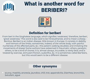 beriberi, synonym beriberi, another word for beriberi, words like beriberi, thesaurus beriberi