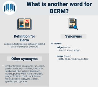 Berm, synonym Berm, another word for Berm, words like Berm, thesaurus Berm