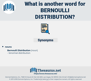 Bernoulli Distribution, synonym Bernoulli Distribution, another word for Bernoulli Distribution, words like Bernoulli Distribution, thesaurus Bernoulli Distribution