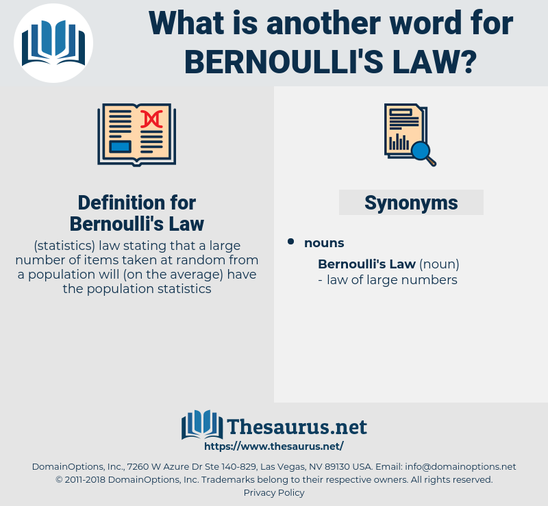 Bernoulli's Law, synonym Bernoulli's Law, another word for Bernoulli's Law, words like Bernoulli's Law, thesaurus Bernoulli's Law