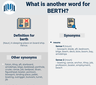 berth, synonym berth, another word for berth, words like berth, thesaurus berth
