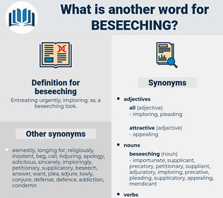 beseeching, synonym beseeching, another word for beseeching, words like beseeching, thesaurus beseeching