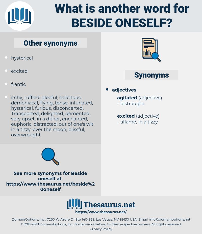 beside oneself, synonym beside oneself, another word for beside oneself, words like beside oneself, thesaurus beside oneself
