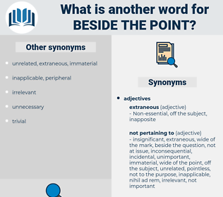 beside the point, synonym beside the point, another word for beside the point, words like beside the point, thesaurus beside the point
