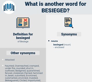 besieged, synonym besieged, another word for besieged, words like besieged, thesaurus besieged
