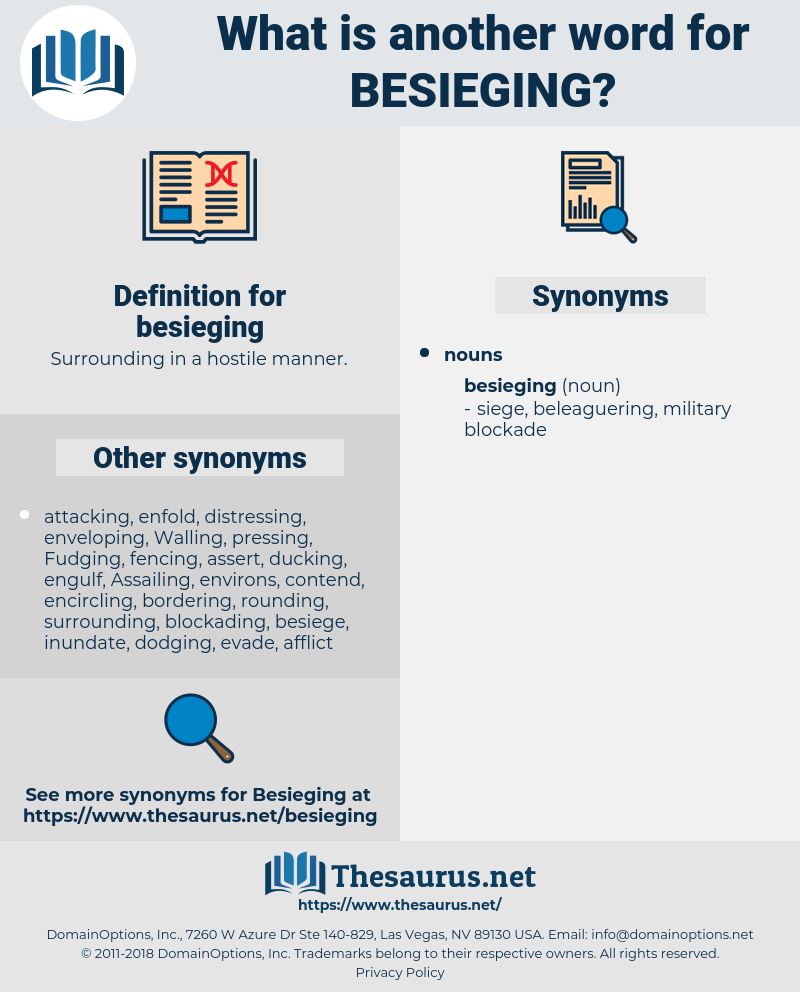 besieging, synonym besieging, another word for besieging, words like besieging, thesaurus besieging