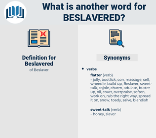 Beslavered, synonym Beslavered, another word for Beslavered, words like Beslavered, thesaurus Beslavered