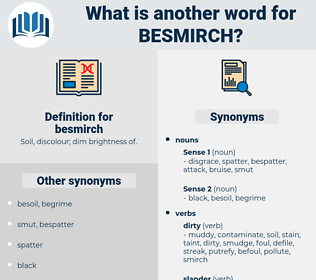 besmirch, synonym besmirch, another word for besmirch, words like besmirch, thesaurus besmirch