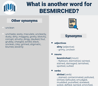 besmirched, synonym besmirched, another word for besmirched, words like besmirched, thesaurus besmirched