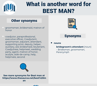best man, synonym best man, another word for best man, words like best man, thesaurus best man