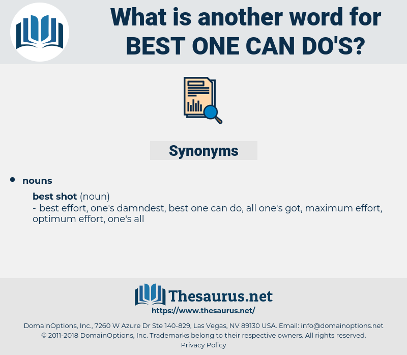 best one can do's, synonym best one can do's, another word for best one can do's, words like best one can do's, thesaurus best one can do's